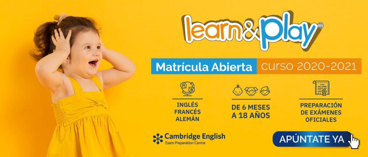 Learn and Play matricula clases inglés 2020-2021 banner