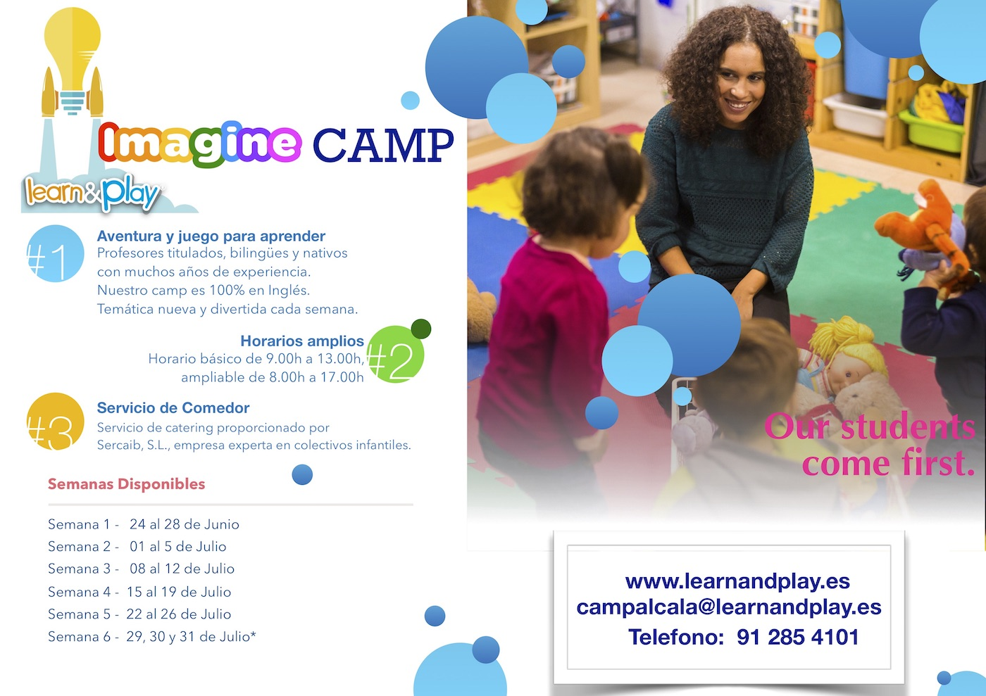 info web imagine camp 2019 banner