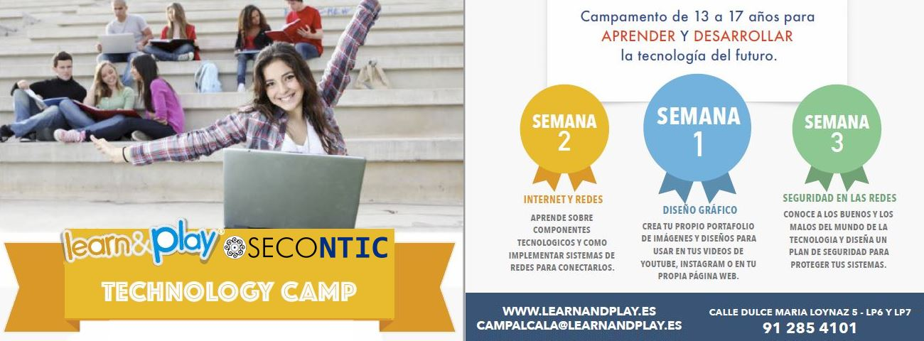 learn and play tecnology Camp redes