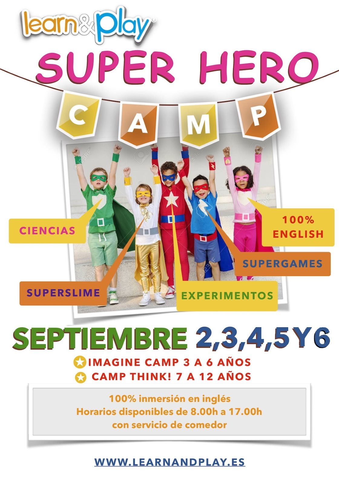 Super hero camp - Learn and play